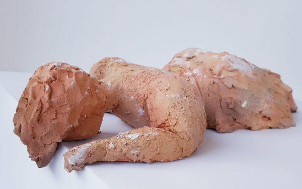 Sleeping Lady of Malta II remake Mother Languge Clay Sculpture